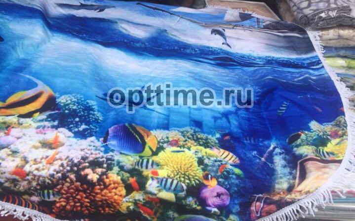 Круглые пляжные полотенца оптом - 2