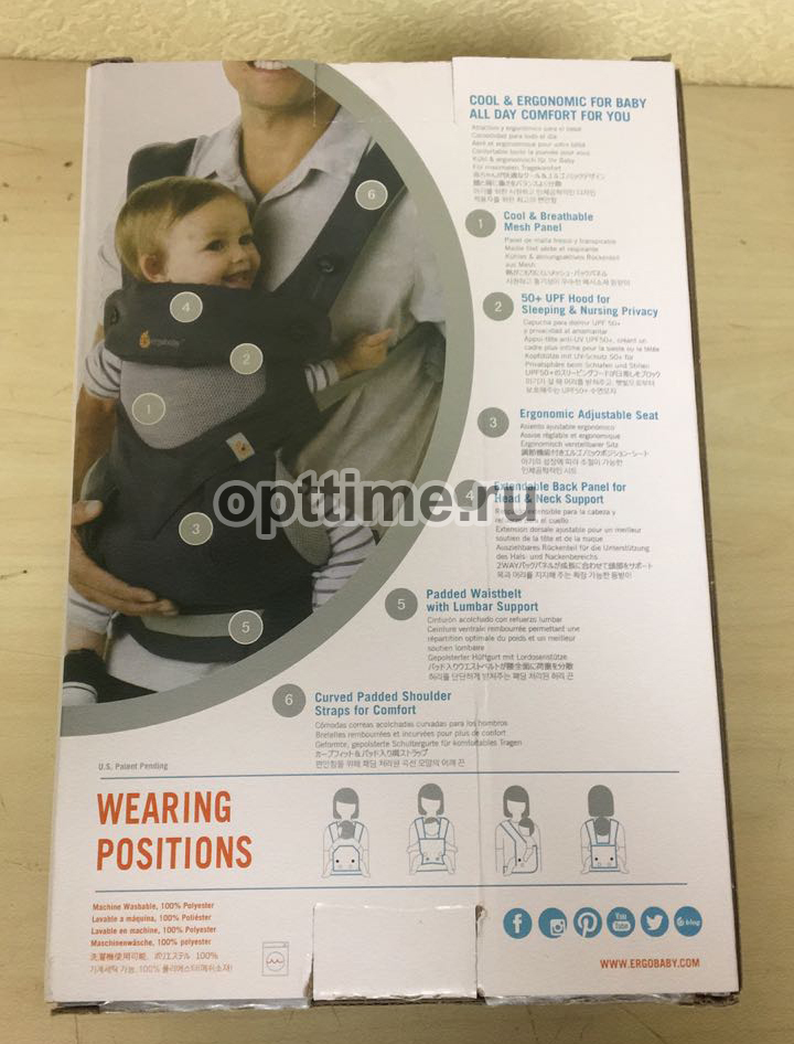 Эрго рюкзак Ergobaby 360 Cool Air baby carrier оптом - 3