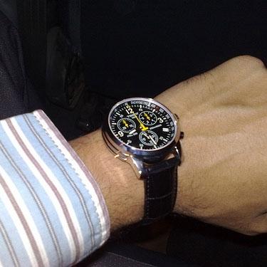 Часы Tissot  с желтой стрелкой ААА кварц оптом - 1