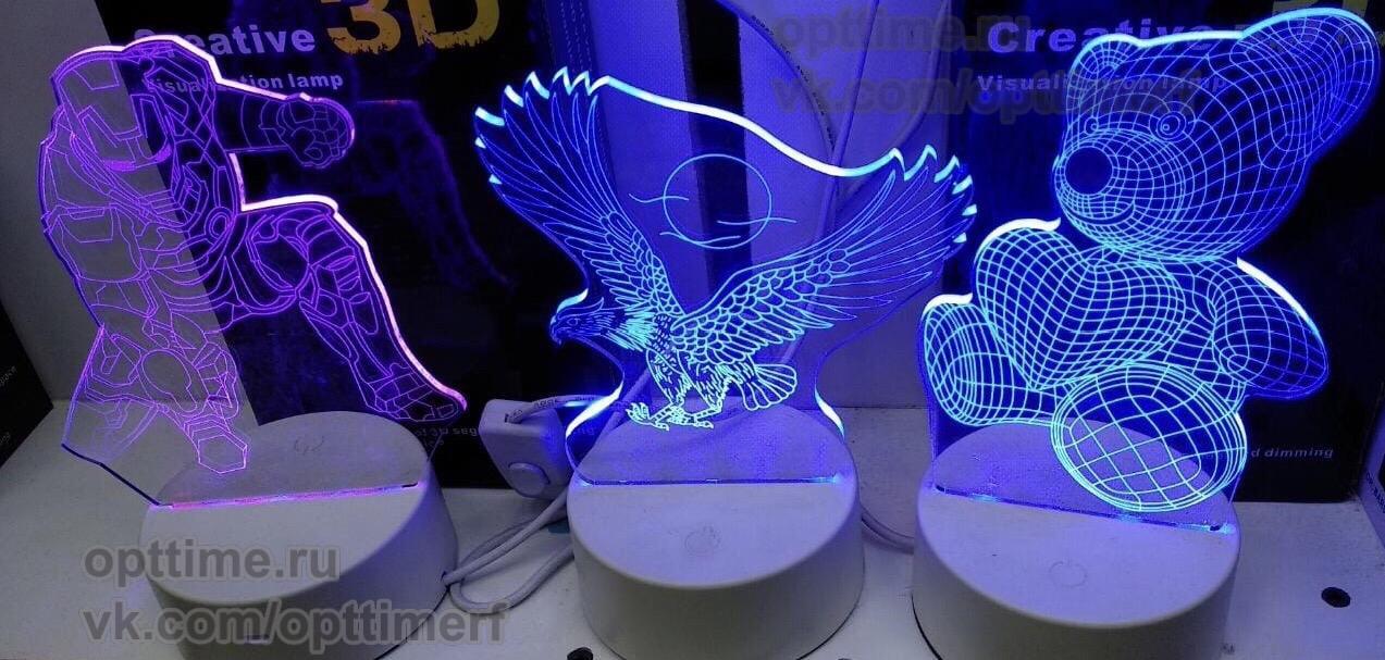 3D светильники оптом - 1