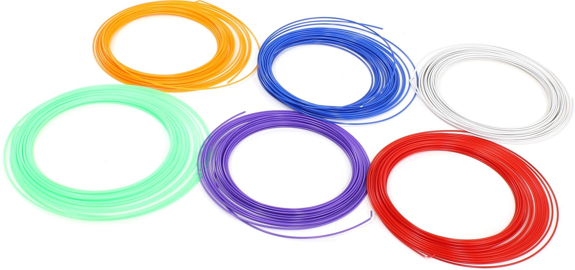 Набор пластика для 3D ручки из 8 колец  оптом - 2