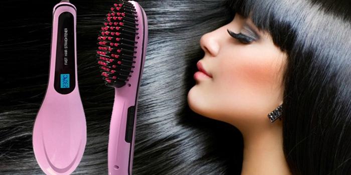 Расческа для выпрямления волос Fast Hair Straightener оптом - 2