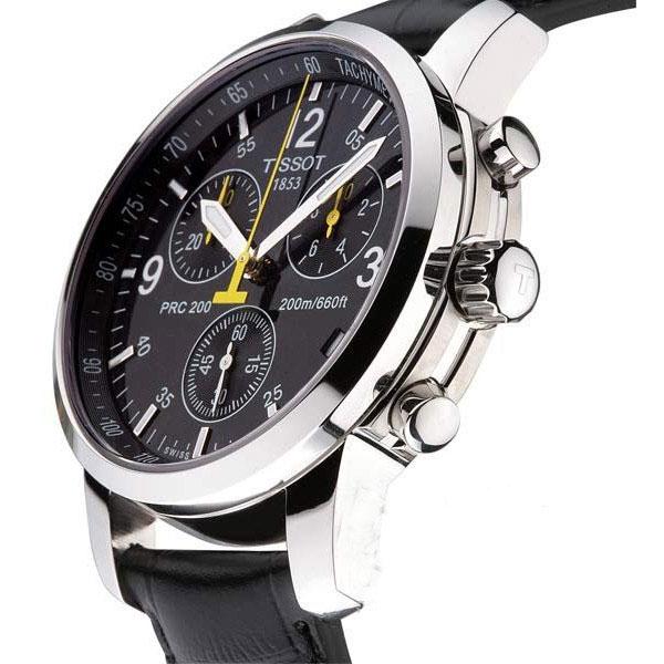 Часы Tissot  с желтой стрелкой ААА кварц оптом - 3
