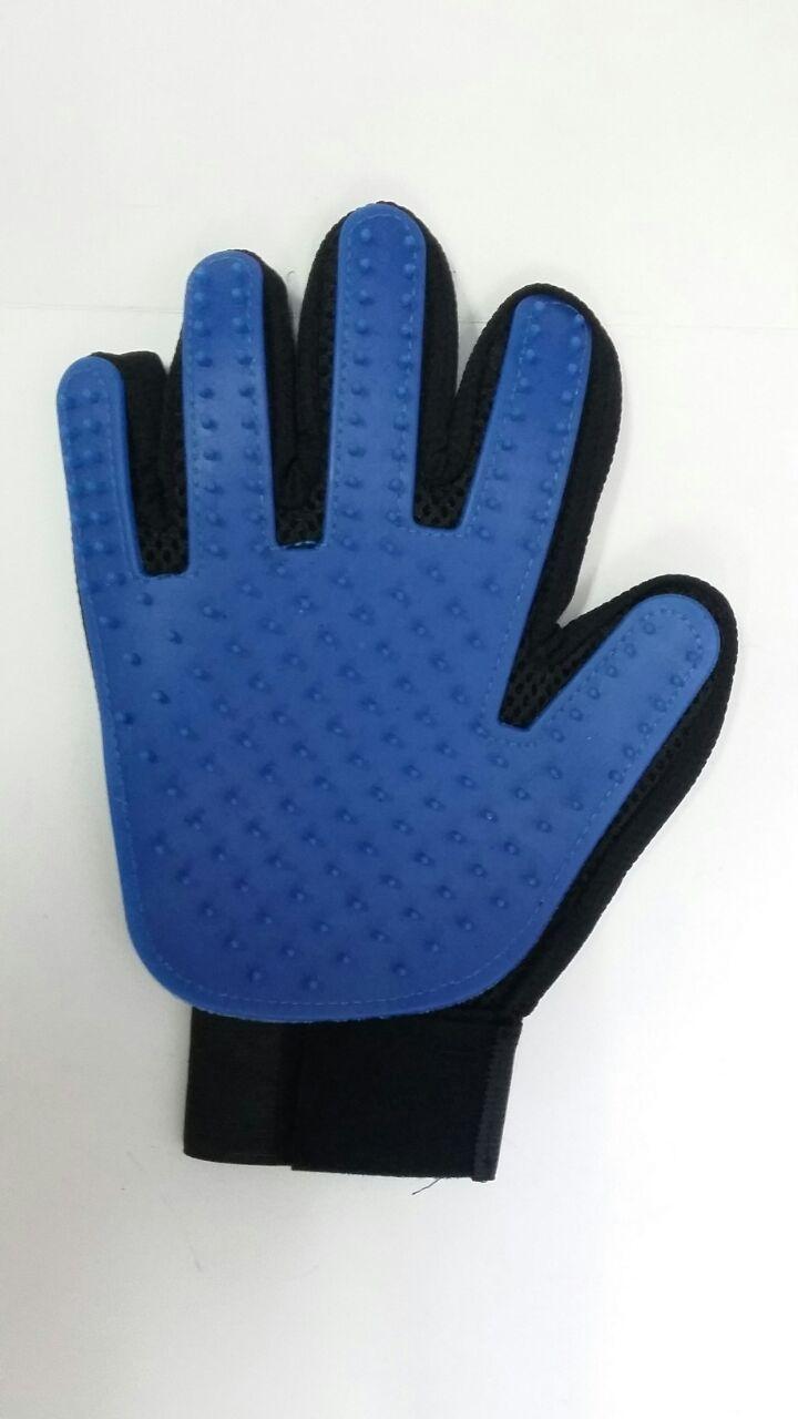 Перчатка для вычесывания шерсти домашних животных Five Finger Deshedding Glove оптом - 3