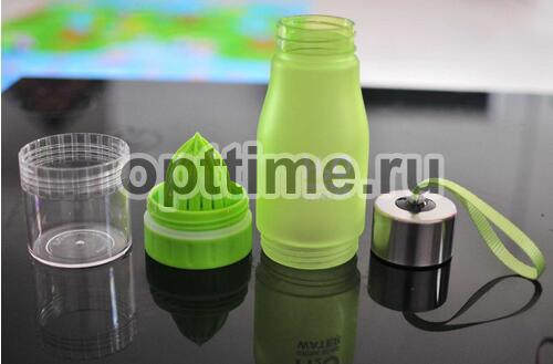 Спортивная бутылка H2O с соковыжималкой оптом - 3