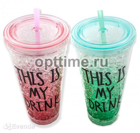 Охлаждающий стакан с трубочкой оптом - 4