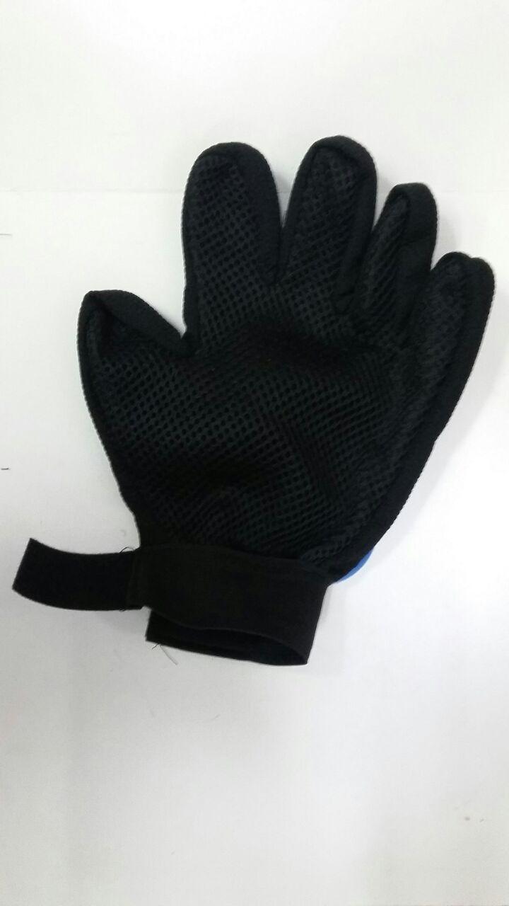 Перчатка для вычесывания шерсти домашних животных Five Finger Deshedding Glove оптом - 4