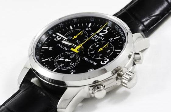 Часы Tissot  с желтой стрелкой ААА кварц оптом - 2