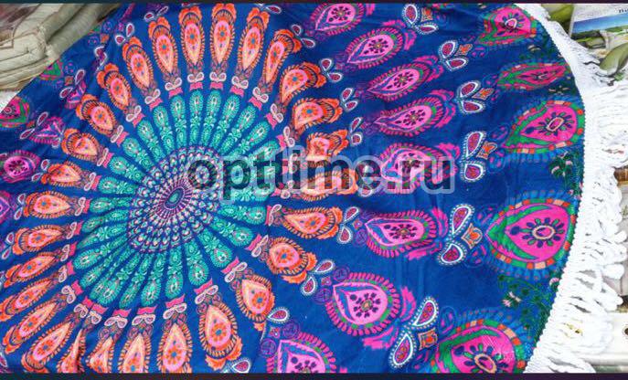Круглые пляжные полотенца оптом - 3
